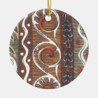 Colores tradicionales del vintage africano de Haku Ornamentos De Reyes