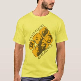 Colores unidos de la revolución camiseta