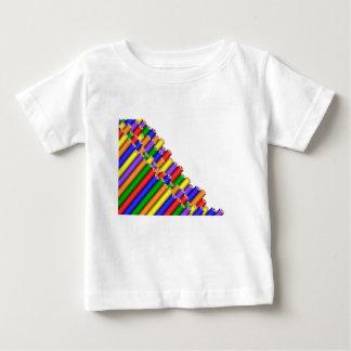 colores y lápices camiseta de bebé