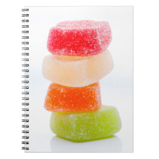 Colorful jelly square sweets libreta