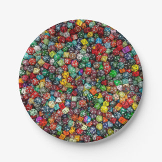 Colorfull Dice Paper Plate Plato De Papel