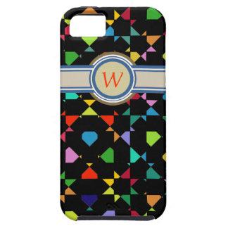 colorido añada el monograma inicial iPhone 5 Case-Mate protector