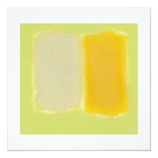 Colorido caliente soleado de la pintura invitacion personal
