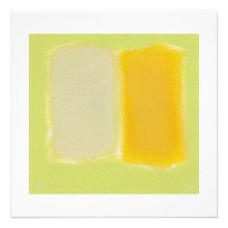 Colorido caliente soleado de la pintura minimalist invitacion personal