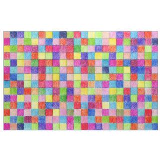 Colorido coloreado en cuadrados del papel tela