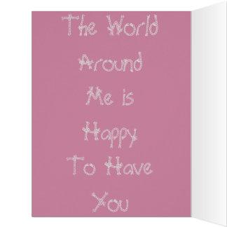Colorido el mundo alrededor de mí colores del tarjeta de felicitación grande
