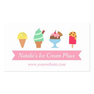 Colorido, elegante, negocio de la sala de helado tarjetas de visita