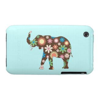 Colorido floral de las flores retras enrrolladas Case-Mate iPhone 3 fundas