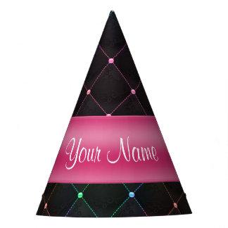 Colorido negro rosado acolchada moda personalizado gorro de fiesta