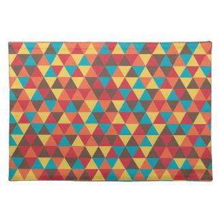 Colorido triangular salvamanteles