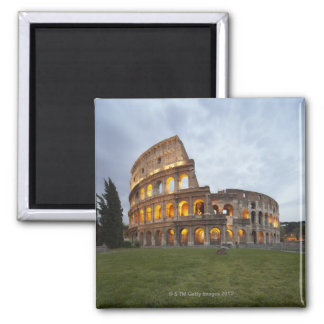 Colosseum en Roma, Italia Imán Cuadrado