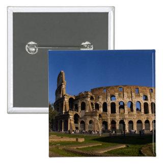 Colosseum famoso en la señal 2 de Roma Italia Chapa Cuadrada