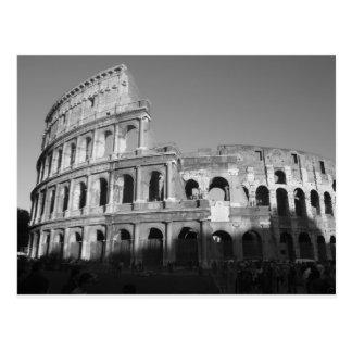 Colossium blanco y negro tarjetas postales