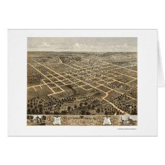 Columbia, mapa panorámico del MES - 1869 Tarjeta De Felicitación