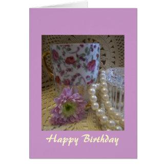 Columna cristiana de la tarjeta del feliz cumpleañ
