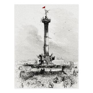 Columna, Place de la Bastill, París Postal