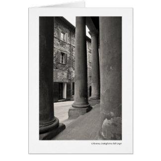Columnas, Castiglione del Lago Tarjeta De Felicitación