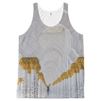Columnas de jeque Zayed Grand Mosque, Abu Dhabi Camiseta De Tirantes Con Estampado Integral