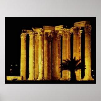 Columnas griegas póster