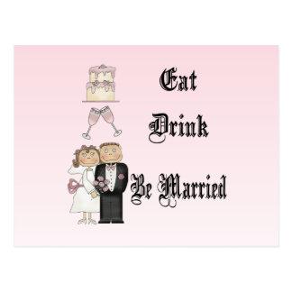 Coma, beba, esté casado postales