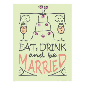 Coma, bebida y sea diseño casado del texto de la postal
