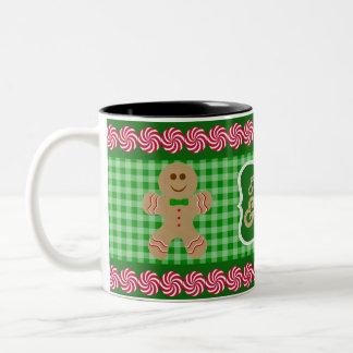 Coma, bebida y sea feliz taza verde del pan de