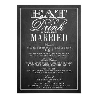 Coma, bebida y sea menús casados del boda de la