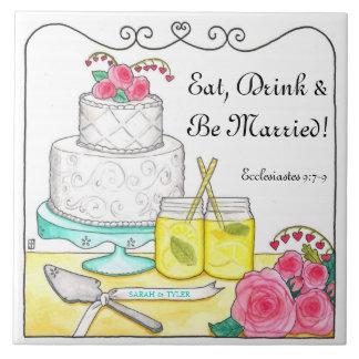 Coma, bebida y sea teja adaptable casada del boda