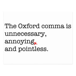 Coma de Anti-Oxford Postal