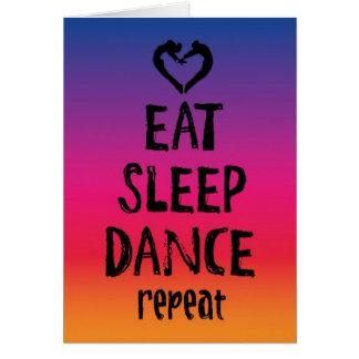 Coma, duerma, baile la tarjeta