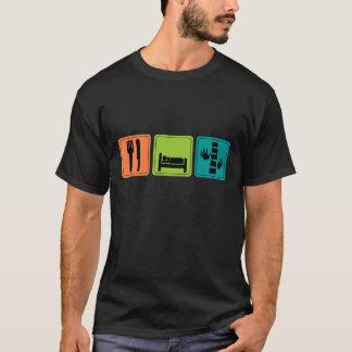 Coma, duerma, camiseta de la quiropráctica