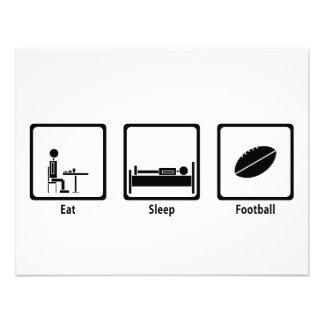 Coma duerma fútbol - amante del fútbol anuncio