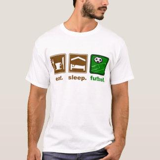 coma, duerma, futbol camiseta