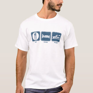 coma, duerma, kayak camiseta
