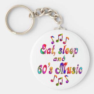 Coma, duerma música de los años 60 llaveros