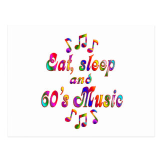 Coma, duerma música de los años 60 postal