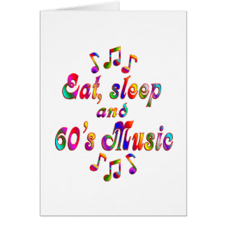 Coma, duerma música de los años 60 tarjetón