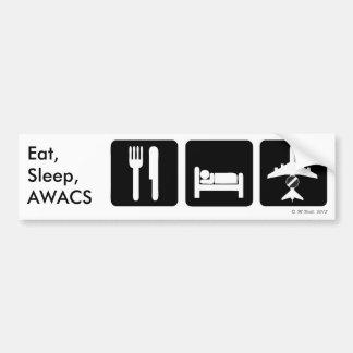 Coma, duerma, pegatina para el parachoques del