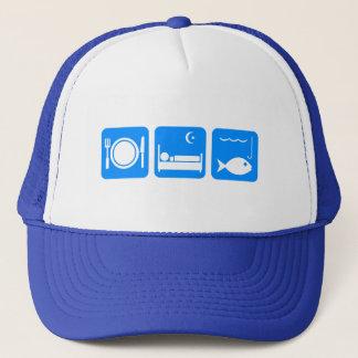 Coma el azul de los pescados del sueño gorra de camionero