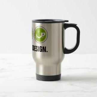 Coma el diseño del sueño (el verde) tazas