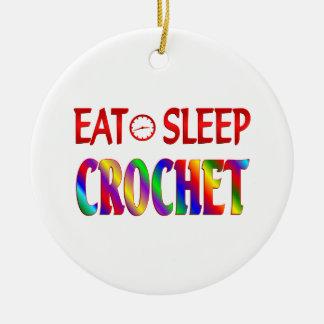Coma el ganchillo del sueño ornaments para arbol de navidad