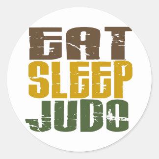Coma el judo 1 del sueño pegatina redonda