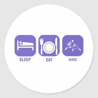 Coma el judo del sueño pegatina redonda