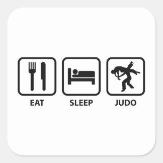 Coma el judo del sueño pegatina cuadrada