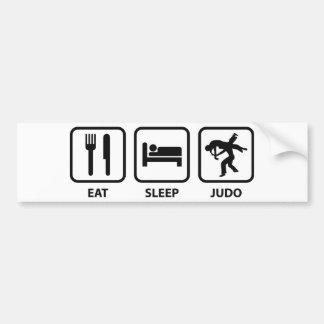 Coma el judo del sueño pegatina para coche