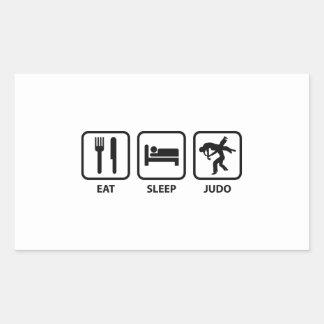 Coma el judo del sueño pegatina rectangular