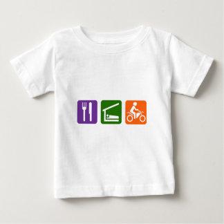 Coma el motocrós del sueño camiseta de bebé