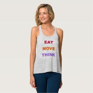 Coma el movimiento piensan las camisetas sin