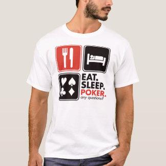 Coma el póker del sueño camiseta