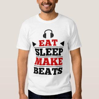Coma el sueño hacen golpes camisetas